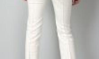 Білі штани що можна надіти з білими брюками?
