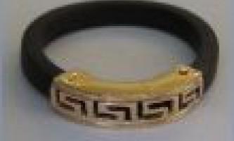 Кільце з каучуку з золотом новинка ювелірної моди