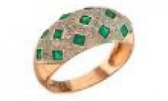 Кільце з діамантом і смарагдом благородне поєднання