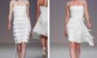 Короткі весільні сукні 2012. Фото