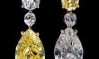 Купити сережки з діамантами різновиди каменів.