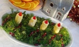 Салат «новорічні свічки»