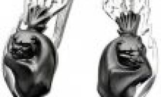 Сережки чорні оригінальні рішення