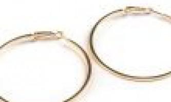 Сережки кільцями золоті купити онлайн