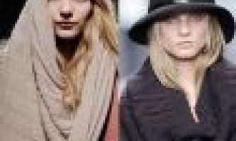 Шарфи 2012 стильний аксесуар. Оригінальні способи носіння шарфа