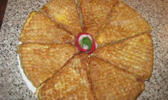 Вафельні куточки з рибнояічной начинкой